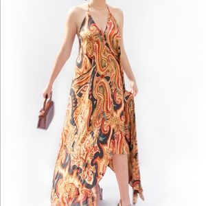Love stitch Halter Paisley Dress